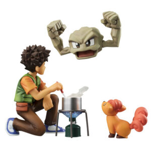 Pokemon Brock & Geodude & Vulpix