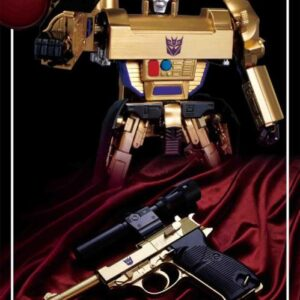 Transformers Masterpiece MP-05G Megatron (Gold Version 30th Anniversary Exclusive With Reflector)