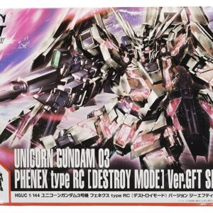 P-Bandai HG RX-0 Unicorn Gundam 03 Phenex type RC (Unicorn Mode) Silver Coating Ver.