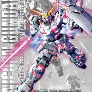 1/100 MG RX-0 Unicorn Gundam (Red or Green Frame Twin Frame Edition) Titanium Finish