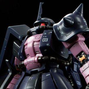 P-Bandai: RG 1/144 MS-06R-1A Black Tri-star Zaku II (Nov 2021 Reissue)
