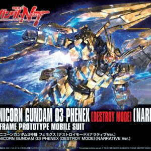 1/144 HGUC Unicorn Gundam Unit 3 Phenex (Destroy Mode) (Narrative Ver.)