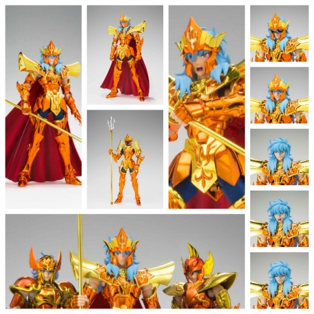 SAINT SEIYA Myth Cloth EX Poseidon Julian Solo Imperial Throne Set Bandai