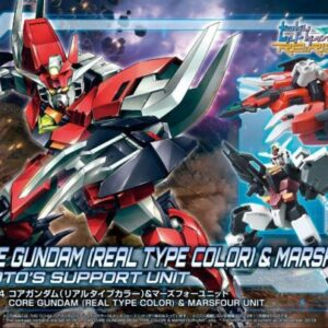 1/144 HDBD:R Core Gundam (Real Type Color) & Marsfour Unit