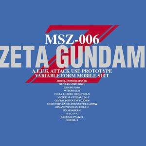 1/60 PG Perfect Grade Zeta Gundam