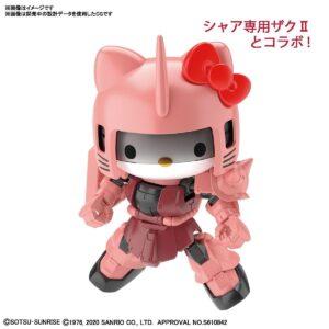 SD Cross Silhouette Hello Kitty/Char's Zaku II (Dec 2020 Release)