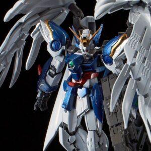 P-Bandai: RG 1/144 Wing Gundam Zero Custom EW + Drei Zwerg Buster [Titanium Finish] (June 2021 Reissue)